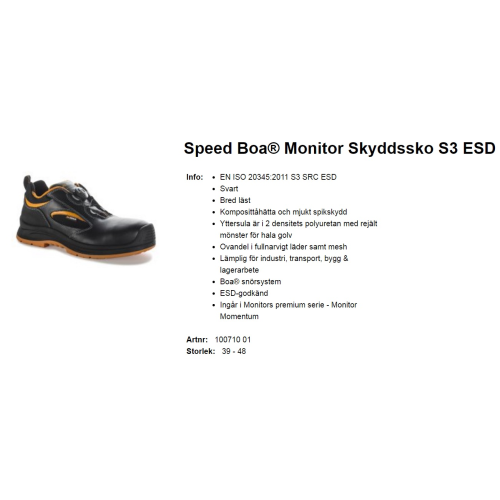 MONITOR Speed S3 Esd